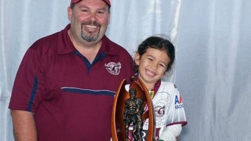 Jason 'Buddy' Miller with his daughter.