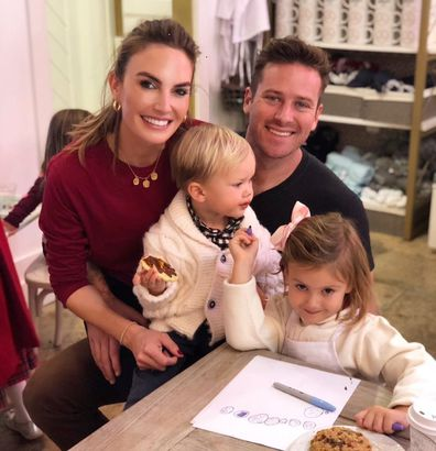 Armie Hammer, Elizabeth Chambers and kids Ford and Harper