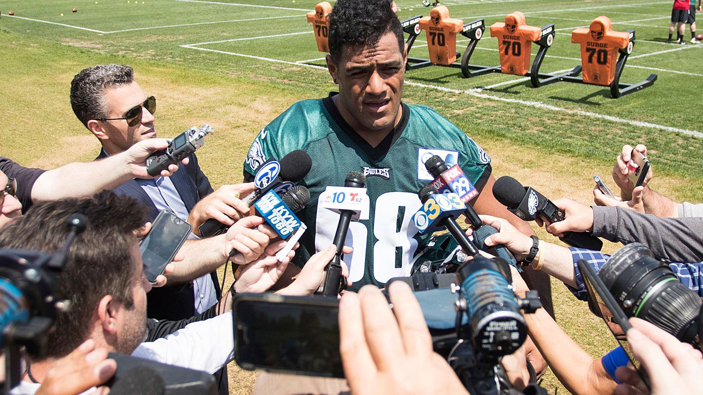 Australian NFL rookie Jordan Mailata 'loving the challenge' of training camp with Philadelphia Eagles