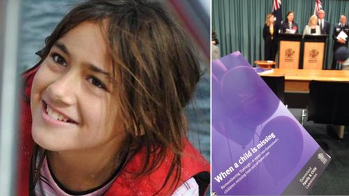 Tiahleigh Palmer (left), and the report (right). (9NEWS / Shane Doherty)