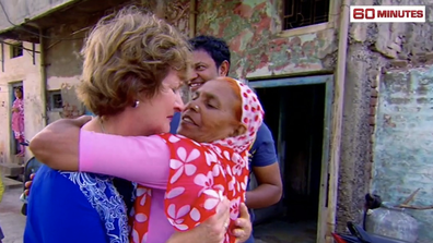Sue and Fatima shared a long hug when they met for the first time.