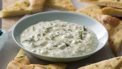 "Recipe: <a href=""http://kitchen.nine.com.au/2017/08/09/13/11/simple-tzatziki-dip"" target=""_top"" draggable=""false"">Simple tzatziki dip</a>"