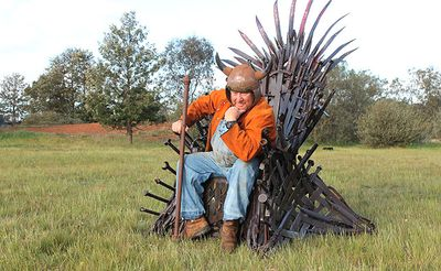 """<P>Mr Whitehead, a <I>Game of Thrones</I> devotee and scrap metal sculptor from the rural town of Urana, began investigating earlier this year how the throne of swords would be built. </P> <P>""""And once I started it I had to finish it,"""" he told ninemsn. </P> <P>Thankfully, it will not take as long to build as The Wall.</P> <P></P>"""