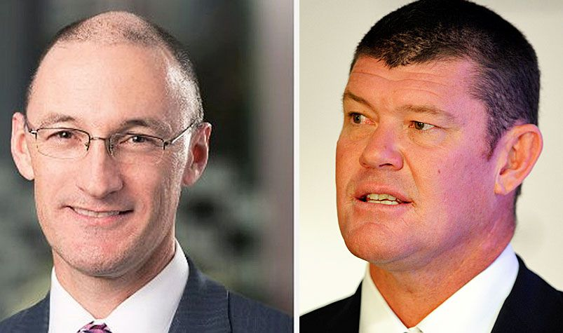 James Packer's Crown executive  Jason O'Connor (left) is among those formally charged.