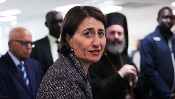 NSW Premier Gladys Berejiklian holds a press conference in Sydney.