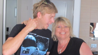 Dan with his mum Karen shortly before his death.