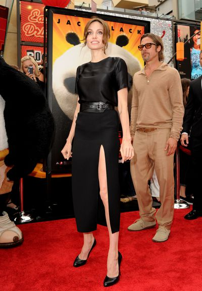 <p><strong>Angelina Jolie 2</strong></p> <p>Skirting the issue at the Kung Fu Panda Premiere in 2011 wearing Michael Kors.</p>