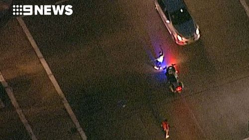 Police continue to divert traffic in affected areas. (9NEWS)