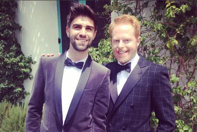 @jessetyler: On our way to the #Emmys!!!!