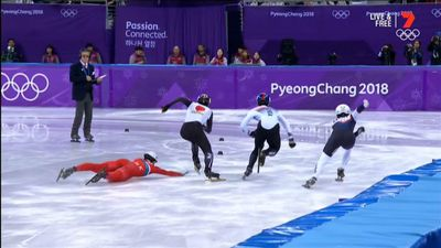 Winter Olympics 2018: North Korean speed skater tries to trip opponent