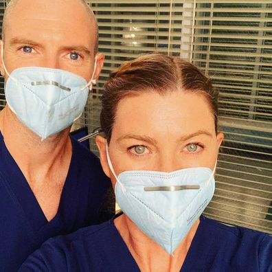 Ellen Pompeo and Richard Flood.