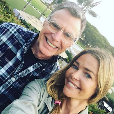 Denise Richards and dad Irv Riachrds, selfie