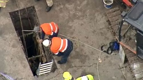 The hole was about five metres deep.