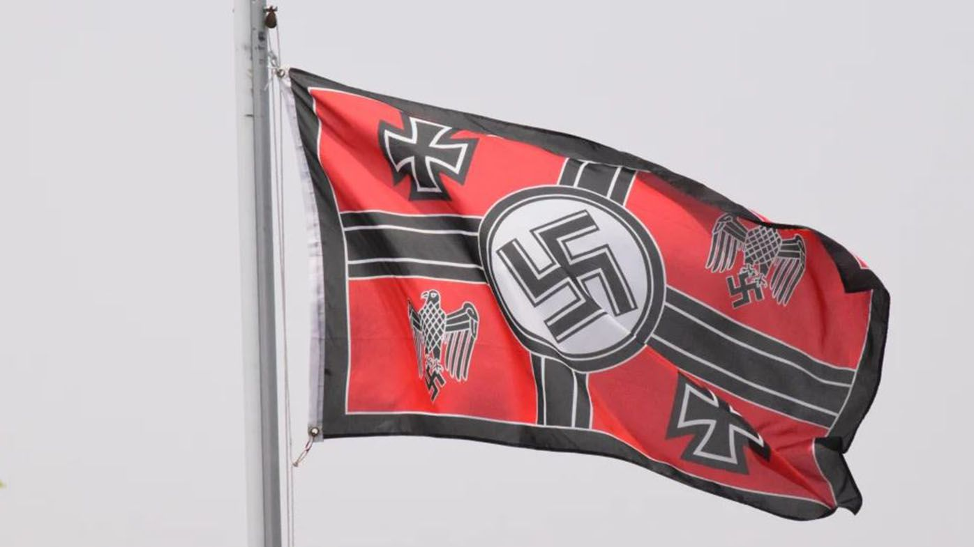 Nazi flag flying at Victorian home 'absolutely disgusting'