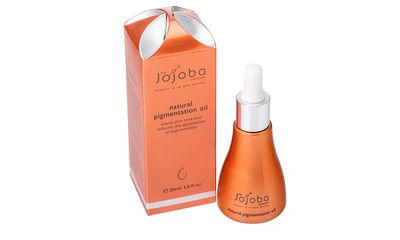 """<a href=""""http://www.thejojobacompany.com.au/products/natural-pigmentation-oil"""" target=""""_blank"""">#8 Natural Pigmentation Oil, $39.95, The Jojoba Company</a>"""