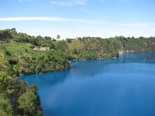 Blue Lake is in a dormant volcanic crater and is one of Mt Gambier's top tourist attractions spanning more than one kilometre in length. Picture: Supplied.