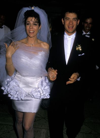 Tom Hanks, Rita Wilson, relationship timeline, wedding photo