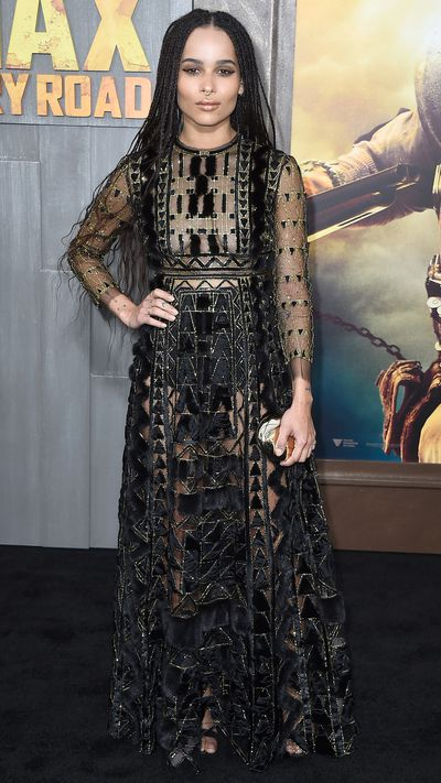 In Valentino for the LA premiere of <em>Mad Max: Fury Road</em>.