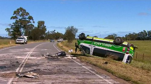 Paramedic Wesley Ackerman was trapped inside for up to 45 minutes. (9NEWS)