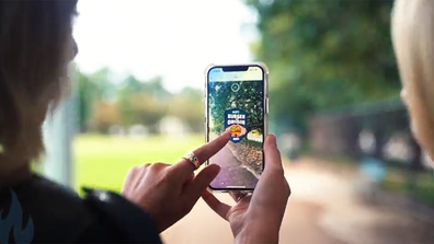 Augmented reality app Litt lets you 'catch' virtual burgers that can be redeemed for real-life ones.