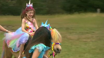 Girl's wish comes true with magical visit to 'Unicorn Land'