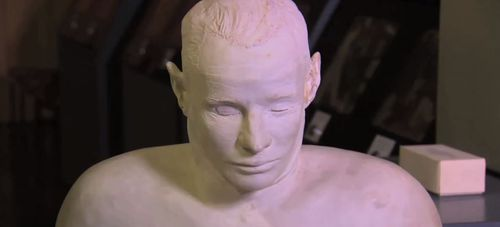 A bust of the Somerton Man.