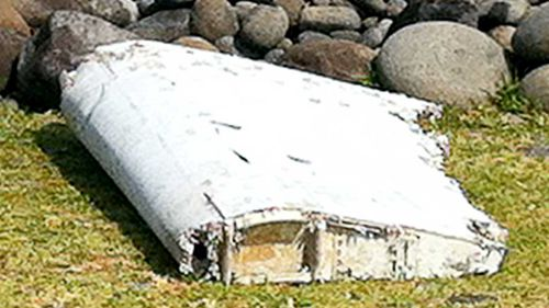 The debris was found on Reunion Island along with damaged luggage. (Supplied)