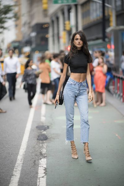 Blanca Padilla at the Victoria's Secret Casting Call in New York on August 21.