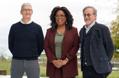 Tim Cook, Oprah Winfrey and Steven Spielberg