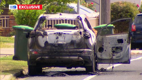 A burned out car was found by police in Yagoona, a suburb in Sydney's south-west.