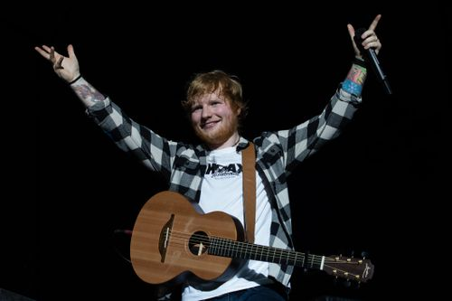 Ed Sheeran has performed three sold out gigs at Etihad Stadium in Melbourne over the weekend. (AAP)