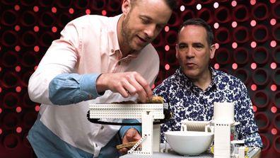 LEGO Masters 2020 Hamish Blake Brickman challenge breakfast machine