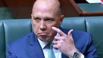 Peter Dutton in parliament.