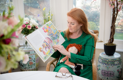 Sarah Ferguson Duchess of York reading her children's book