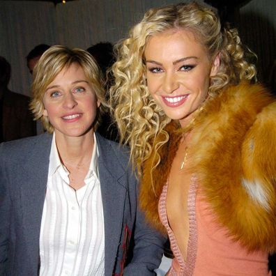 Ellen DeGeneres and Portia de Rossi during VH1 Big in '04 - Backstage and Audience at Shrine Auditorium in Los Angeles.