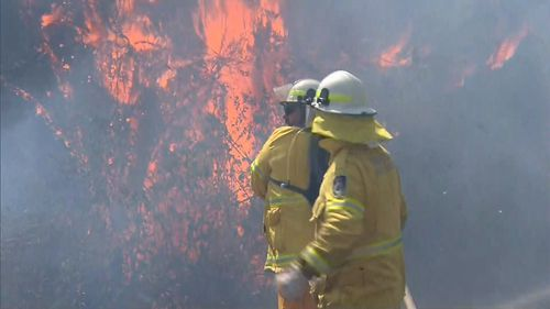 Dozens of homes were threatened in North Rothbury as flames moved dangerously close to communities.