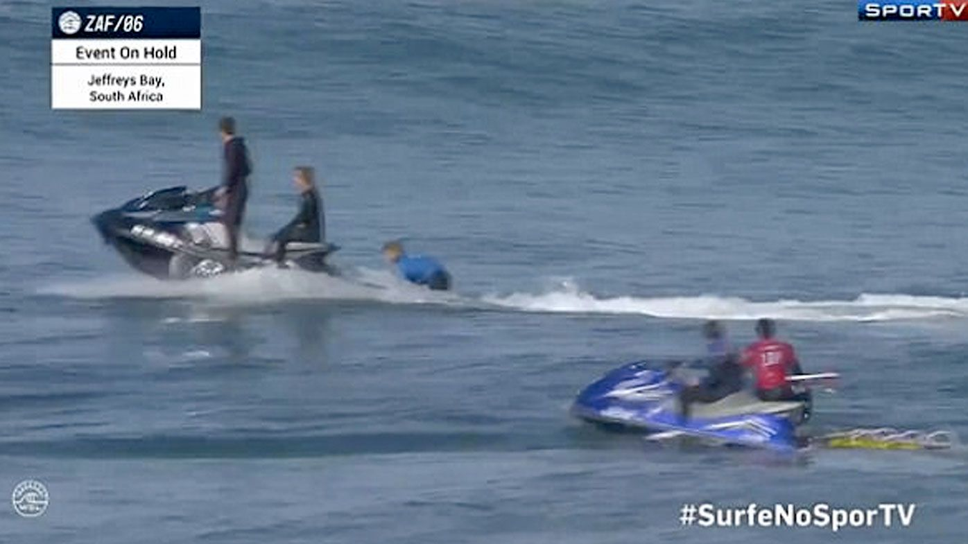 Fanning plucked from sharky J-Bay waters