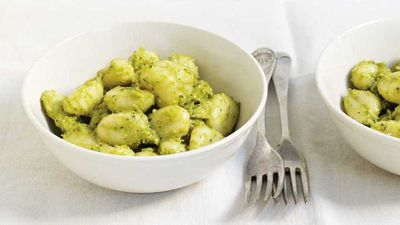 "Recipe:&nbsp;<a href=""http://kitchen.nine.com.au/2017/08/10/16/55/avocado-pesto-gnocchi"" target=""_top"" draggable=""false"">Avocado pesto gnocchi</a>"