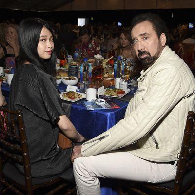 Riko Shibata and Nicolas Cage