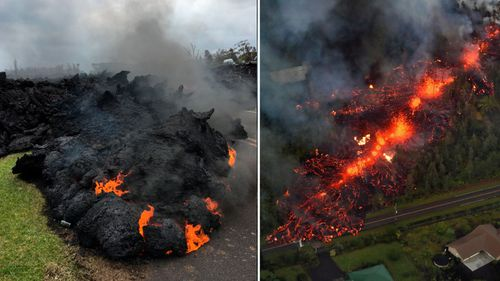 Residents have evacuated as Kilaueau continues to erupt. (AAP)