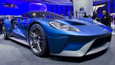 Ford's GT supercar was a keenly anticpated unveiling. (AAP)