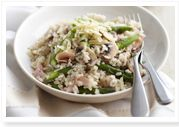 Ham & mushroom risotto for $8.80