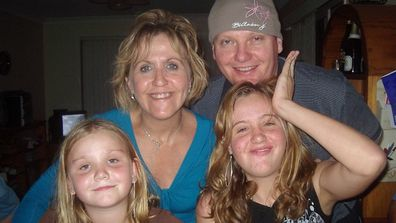 Burgess family with daughters