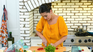 Selena Gomez shows off her cooking skills in the series.