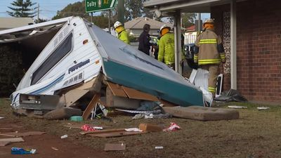 Women 'take 4WD towing caravan on destructive joyride'