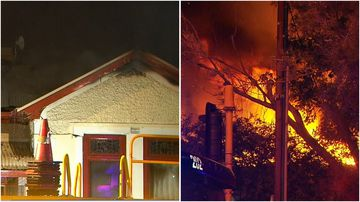 A house in Fullarton has gone up in flames after a suspected electrical fault in the roof.