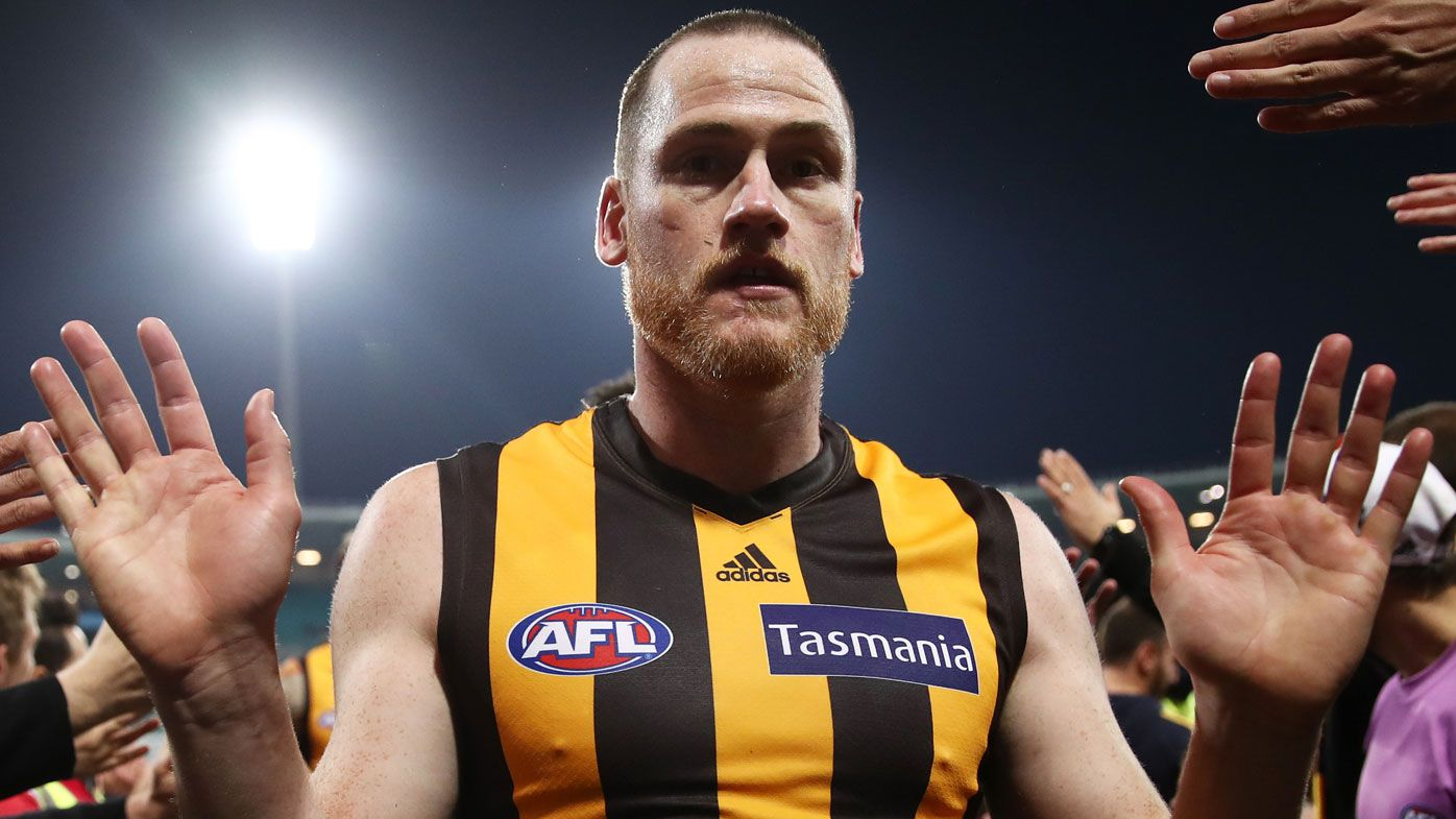 Hawthorn fires back at sickening cancer comment about champion Jarryd Roughead