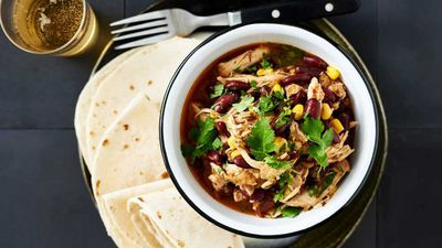 "Recipe: <a href=""http://kitchen.nine.com.au/2017/08/01/17/18/one-pan-mexican-pulled-chicken-with-soft-corn-tortillas"" target=""_top"">One pan Mexican pulled chicken with soft corn tortillas</a>"