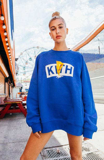 """Hailey Baldwin for<a href=""""https://kithnyc.com/pages/search-results-page?q=power+rangers"""">Kith</a> x Power Rangers"""