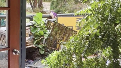 The fast-moving flood tore through his home and the home his father-in-law lives in.